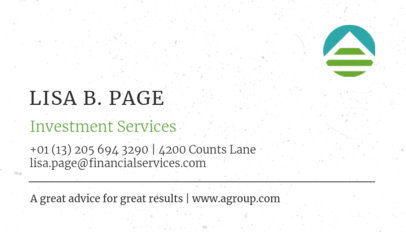 Investment Services Business Card Maker 511a