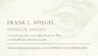 Business Card Maker for Financial Analysts 511d
