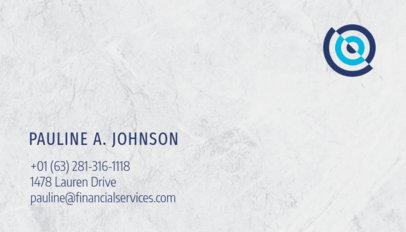Minimalist Financial Business Card Maker 511e