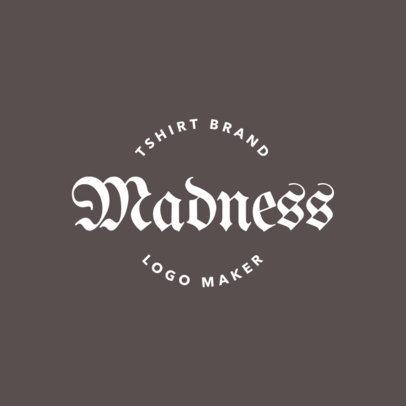 Gothic Logo Design Template for T-Shirt Brand 1339b