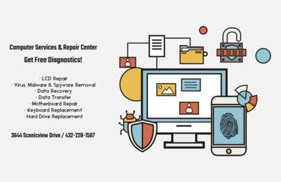 Technology Company Flyer Design Maker 514d
