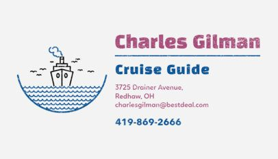 Cruise Guide Business Card Maker 487a