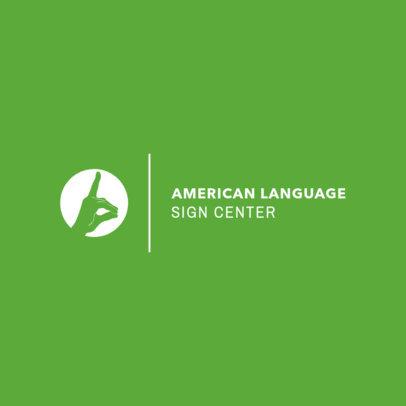Sign Language Center Logo Design Maker 1340b