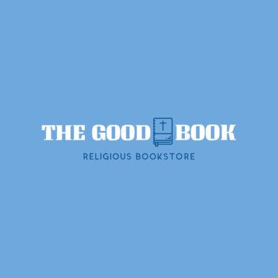 Logo Design Template for Religious Bookstore 1268e