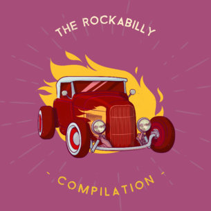 Album Cover Template for Rockabilly Compilation CD 478b