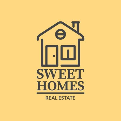 Sweet Logo Template for Real Estate Business 1337b