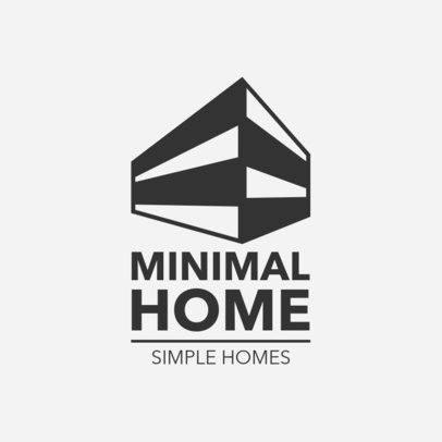 Minimalist Real Estate Logo Template 1337d