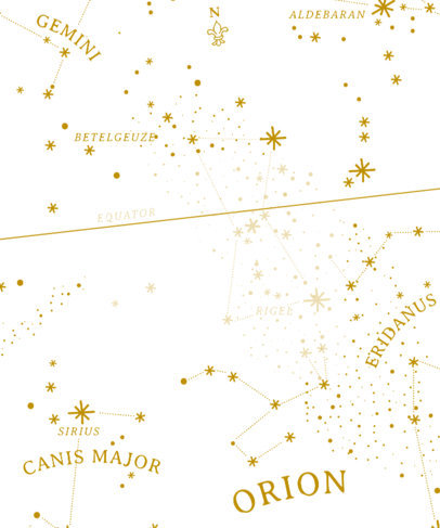 Zodiac T-Shirt Design Template with Constellations 441c