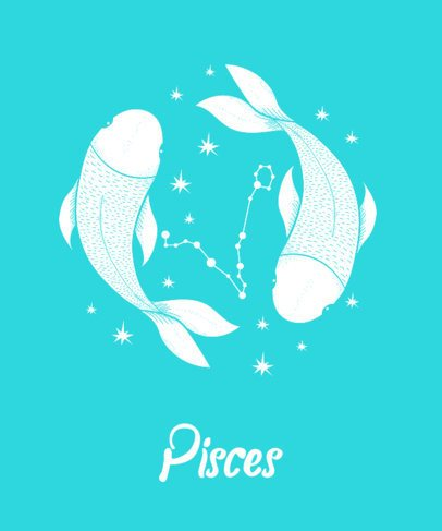 T-Shirt Design Template for Pisces 263b