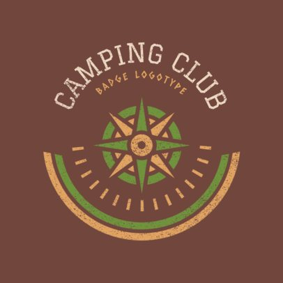 Online Logo Maker for Travel Agency with Camping Spots 1202a