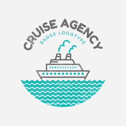 Custom Logo Maker for Cruise Agency with Vacation Icons 1202b