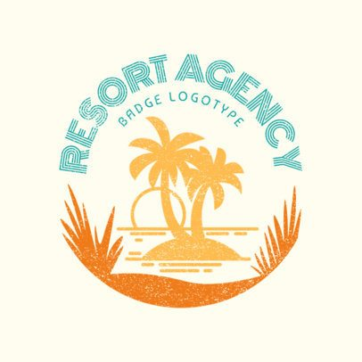 Custom Logo Maker for Travel Agency with Vacation Resorts 1202e