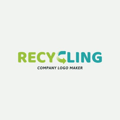 Recycling Company Online Logo Template  1372
