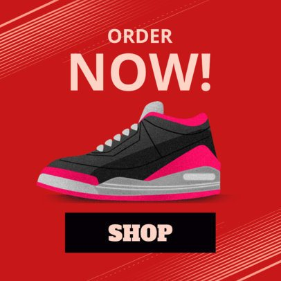 Tennis Shoes Online Ad Banner Maker 538