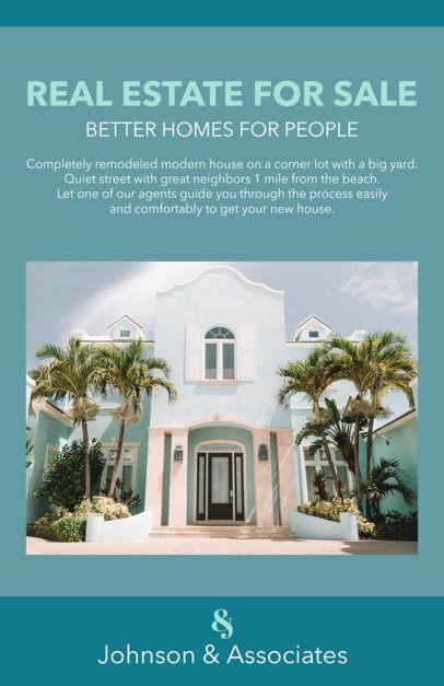 Online Flyer Template for Real Estate Offer 500