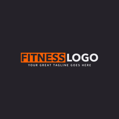 Text Only Fitness Logo Creator 1358