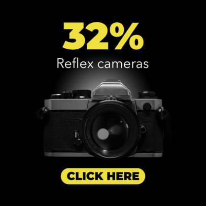 Cameras for Sale Ad Banner Maker 522