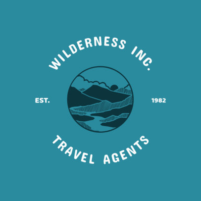 Hiking and Wilderness Travel Agents Logo Maker 1280a