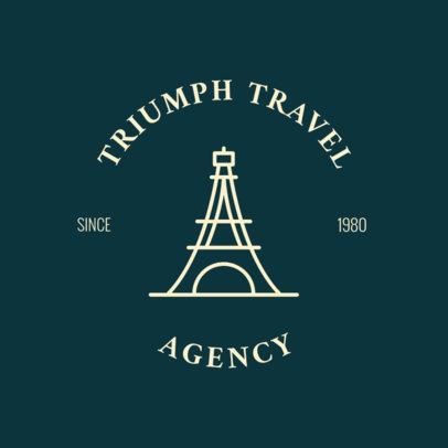 European Tours Travel Agency Logo Template 1280c