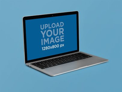 MacBook Pro Mockup Lying on a Flat Surface 22359