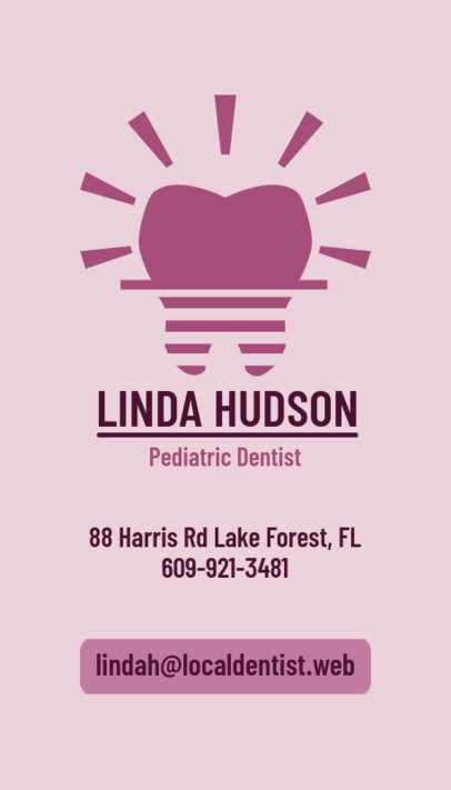 Pediatric Dentist Business Card Maker 490b