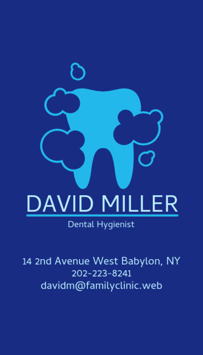 Dental Hygienist Business Card Maker 490c
