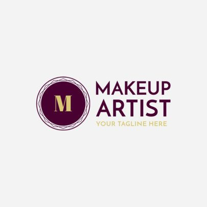 MUA and Beauty Logo Design Maker 1361a