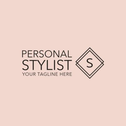Fashion Stylist Logo Design Maker 1361b