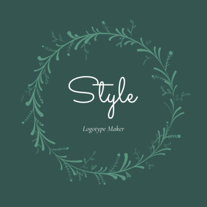 Vintage Clothing Store Logo Maker with Flower Garland 1084c