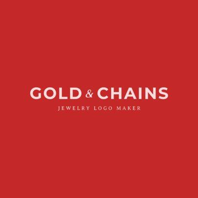 Gold Jewelry Store Logo Maker 1355d