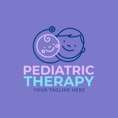Pediatric Therapy Logo Design Template 1366b