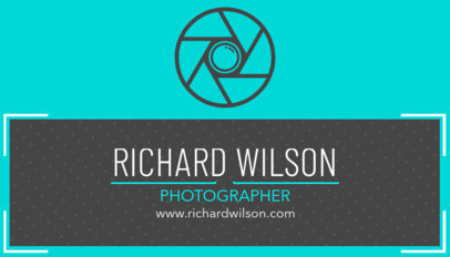 Business Card Template for Photography Studio 507b