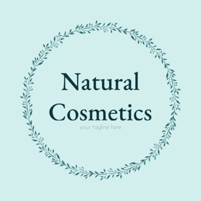 Natural Cosmetics Logo Maker with Leaf Frames 1383d