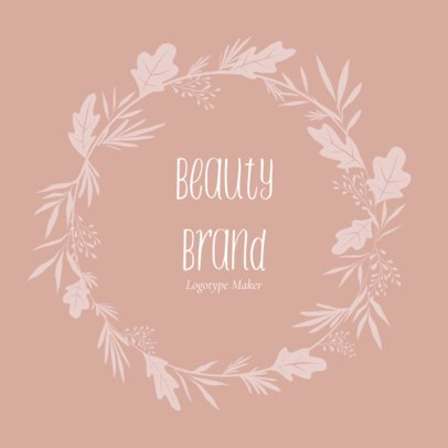 Beauty Brand Logo Creator with Leaves 1383e
