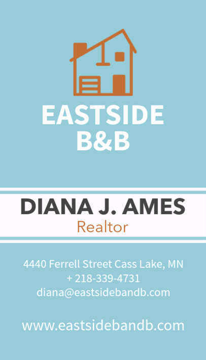 Creative Real Estate Agent Business Card Maker 497c