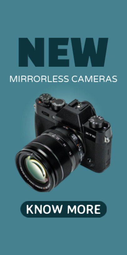Photography Cameras for Sale Ad Template 522d
