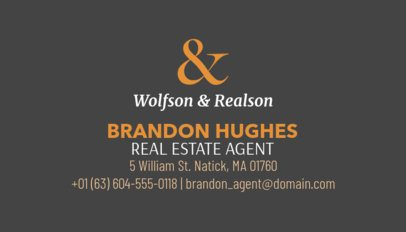 Licensed Realtor Business Card Template 499b-1877