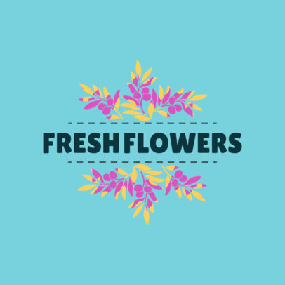 Fresh Logo Maker for Flower Shop 1335e