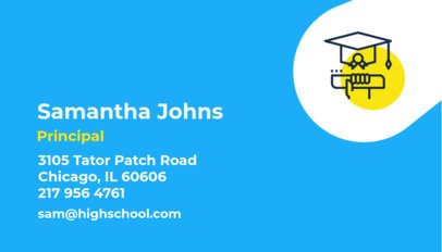 Business Card Template for Educators 574