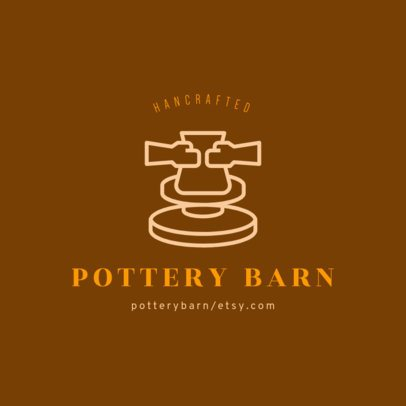 Online Logo Template for Handcrafted Pottery 1401b