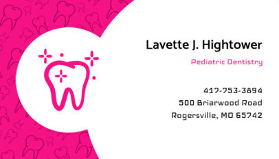 Pediatric Dental Care Business Card Maker 560e