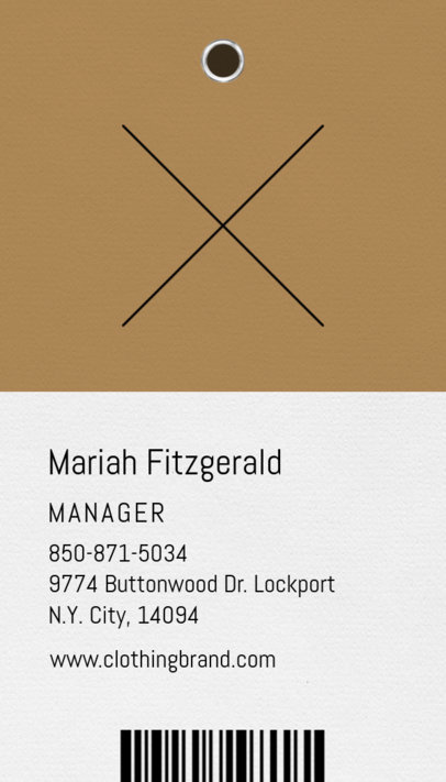 Business Card Maker for Clothing Brand Manager 550