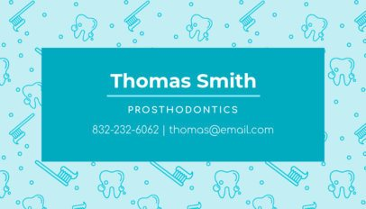 Prosthodontics Business Card Template 549b