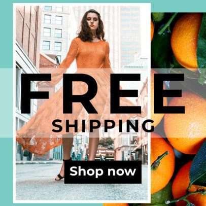 Online Clothing Store Ad Maker  526
