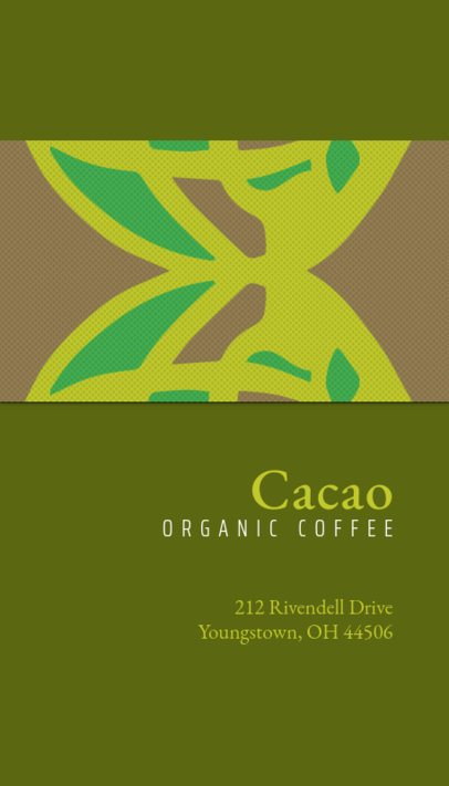 Business Card Template for Coffee Shops 571d