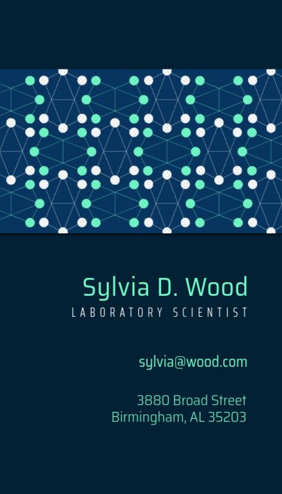 Scientist Business Card 571e
