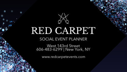 Elegant Event Planner Business Card Maker 564