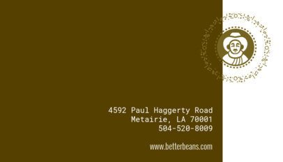 Business Card Maker for Coffee Bar Owners 505d