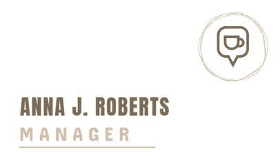 Café Manager Online Business Card Template 505e
