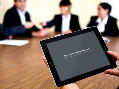 Black iPad Business Meeting